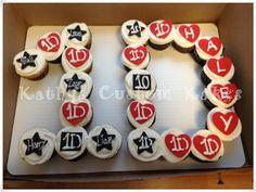 One Direction Cupcake cake
