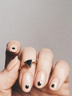 minimalistic geometric nail art