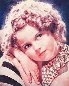 Shirley Temple, 1930s. An extremely talented little girl who thrilled the world with her acting, singing & dancing. She was the cutest little thing on the screen in her days at Hollywood, with her bouncing curls, cheeky dimpled face, and melt-your-heart-smile. She danced, sang, & tapped her way into people's hearts. Beautiful child-star.