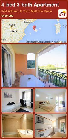 4-bed 3-bath Apartment in Port Adriano, El Toro, Mallorca, Spain ►€400,000 #PropertyForSaleInSpain