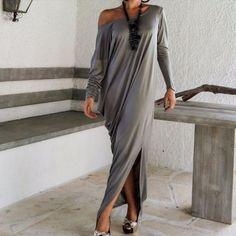 New Off Shoulder Loose Full Length Dress