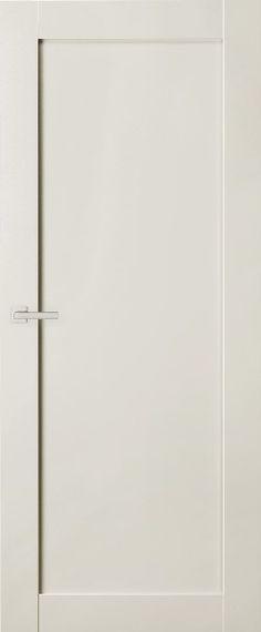 'Move', model van Austria Deuren: alle binnendeuren, m.u.v. de antraciet kleurige stalen taatsdeuren naar de woonkeuken en living. Kiezen voor 'stompe' deur en uitvoeren in hoogglans RAL 9002. De vloerplint in dezelfde hoogte nemen als de onderlijst van de deur. Ook uitvoeren in hoogglans RAL 9002.