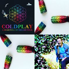 """love coldplay so much hope one day CICI&SISI can be a """"a head full of dreams"""" . we pursue and cheer for each other on the path of dreams.  #coldplay #coldplayharry #dreams #aheadfullofdreams #coldplayrosebowl  #nails #ciciandsisi #nailstamping #twitter #pin #fb"""