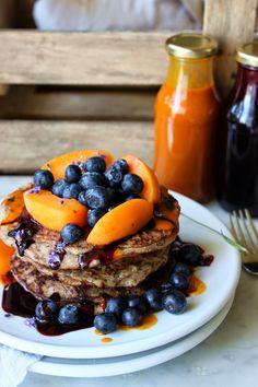 Pancakes W/ Sea Buckthorn & Elderberry Syrup