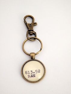 Ayn Rand key ring book keychain mens gift by BytheBookBoutique
