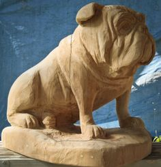 """This carving was made as a memorial for a customer in Michigan who lost her longtime companion, """"Pearl"""". The carving stands 2 ft. tall and is made of oak. These pictures were taken befo…"""