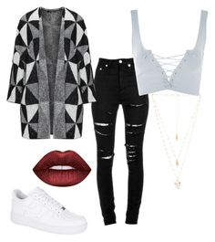 """Untitled #3"" by savjean-1 ❤ liked on Polyvore featuring Yves Saint Laurent, Topshop, NIKE, Natalie B and Lime Crime"