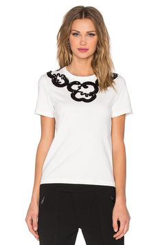MARC BY MARC JACOBS Embroidered Collar Tee. #marcbymarcjacobs #cloth #dress #top #shirt