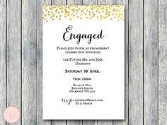 Printable Engagement Party Invitation Personalized by BrideandBows