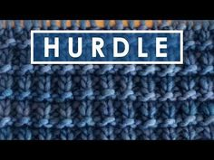 How to Knit the Hurdle Stitch with Free Written Pattern and Video Tutorial by Studio Knit. #knitting