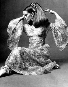 Celia Hammond in a Savita Dress in The Sunday Times Magazine 4e9ef73b5