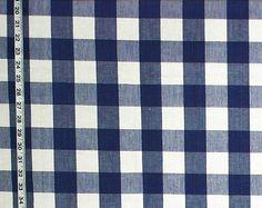 Buffalo check fabric dark blue white royal from Brick House Fabric: Novelty Fabric
