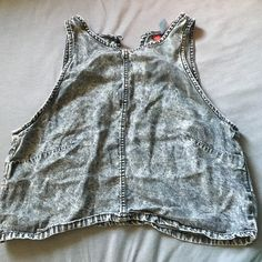 Acid wash crop Super cute soft acid wash crop! Small, wouldn't fit more than a full c cup. Not Brandy, listed for exposure Brandy Melville Tops Crop Tops