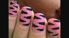 Pink Tiger design for nails