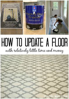Spruce up a plain concrete or plywood floor by stenciling!