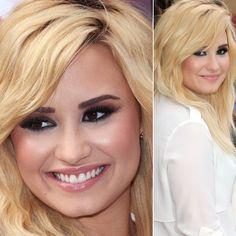 Maquiagem dramática para olhos pequenos por Demi Lovato