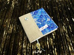 Protège carnet coloriage lin liberty Willow Rose