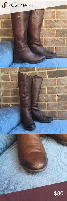 Sam Edelman Brown Penny Riding Boots A wardrobe staple, these riding boots by Sam Edelman go above and beyond. Made from buttery soft leather, they are pure class. In great condition, they have been worn for a season and have very slight scuffing/wear (pictured). 60043 Sam Edelman Shoes