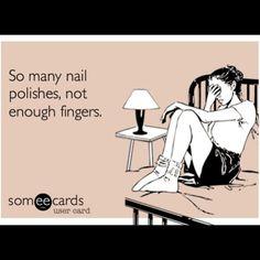 Nail polish addict problems… and the fact that i never paint them…i wish i d… - Nails Love Nails, How To Do Nails, Pretty Nails, My Nails, Grow Nails, Nail Memes, Nail Quotes, Manicure Quotes, Nail Polish Quotes