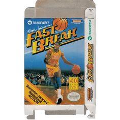 Magic Johnson's Fast Break - Empty NES Box