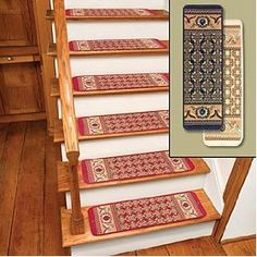 "Burgundy Rug Carpet Stair Treads Set Of 12 CTS12R aka ""Death Trap"""