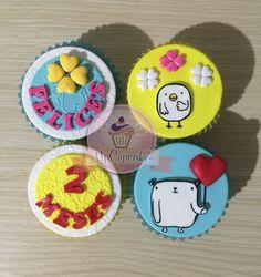 Unos deliciosos cupcakes de amor y tu personaje favorito Mostropi #domciliosbogota #tortas #cupcakes