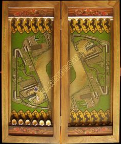 Backgammon for the fans of Formula 1 racing track on the game board