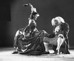 Actress Rhoda Williams, as Cinderella's stepsister Drizella, beats up on actor Don Barclay, who is trying his best to fit the glass slipper on to her foot. Ollie Johnston animated this scene.