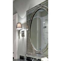 Extra Large VENETIAN Rectangle Wall Mirror Beaded Vanity Mantle Framed Oval Luxe