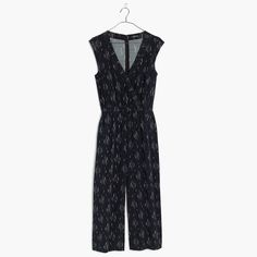 a75b73c1a4bf Madewell Wrap-Front Culotte Jumpsuit In Vine Scatter Madewell