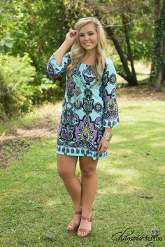 Isabella Tunic/Dress - Mint/Multi