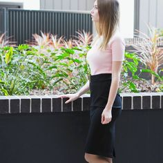 Everyday work style with pink Work Fashion, Beauty Makeup, Skirts, Pink, Style, Swag, Rose, Stylus, Skirt