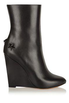 e42eda6c6f04 Mina polished-leather wedge boots  shoes  women  covetme  givenchy Black  Wedge
