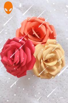 Diy Dco Noel Bricolage New Ideas Easy Paper Flowers, Paper Flower Tutorial, Diy Flowers, Paper Crafts Origami, Origami Art, Diy Paper, Diy Gifts For Kids, Crafts For Kids, Useful Origami