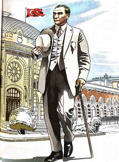 Mustafa Kemal Atatürk & illüstrasyon çizim