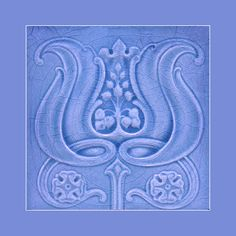"20 Original Art Nouveau tile by J H Barratt Courtesy of Robert Smith from his book ""Art Nouveau Tiles with Style"". Buy as an e-card with a personalised greeting! Art Nouveau Tiles, Art Nouveau Design, Antique Tiles, Vintage Tile, Azulejos Art Nouveau, Art Nouveau Pattern, Artistic Tile, Decorative Tile, Tile Art"