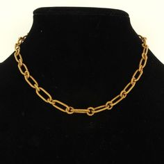 """Estate 14K Yellow Gold Heavy Italian Made Necklace Chain 17"""""""