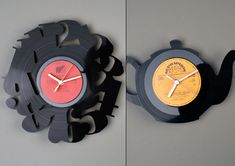 A interesting way to recycle your old vinyl records #DIYinteriors