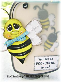 Hi, ~ I'm stopping by to share another card on this bee-utiful sunny Sunday! Then I'm off to spend Father's Day with my own Mr. Honey Bee!  ...