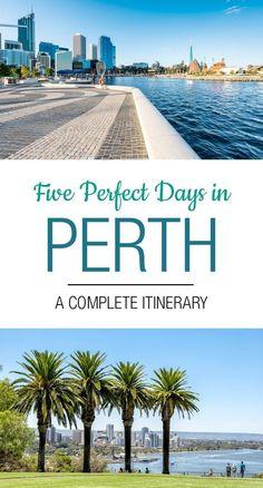 5 Days in Perth: The Perfect Perth Itinerary - Australia (Oceania) Melbourne, Australia Travel Guide, Australia Tours, Australian Road Trip, Visit Sydney, Perth Western Australia, Reisen In Europa, Travel Guides, Travel Tips