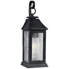 "Feiss Shepherd 19"" High Weathered Zinc Outdoor Wall Light - #8N680 