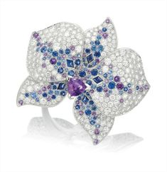 A Gem-set and Diamond 'Orchid' Ring, Cartier.