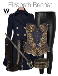 """""""Elizabeth Bennet- pride and prejudice and zombies"""" by ravenclawchick852 on Polyvore featuring Tamara Mellon, Aerosoles, Agent Provocateur and Alexander McQueen"""
