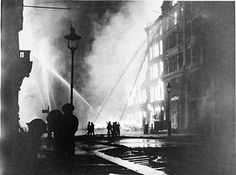Inch Print - High quality prints (other products available) - Firemen using hoses on the inferno at Eastcheap, London EC, at the height of the Blitz. - Image supplied by Mary Evans Prints Online - Photograph printed in the USA Fine Art Prints, Framed Prints, Canvas Prints, Framed Wall, The Longest Night, The Blitz, Battle Of Britain, Poster Size Prints, World War Ii