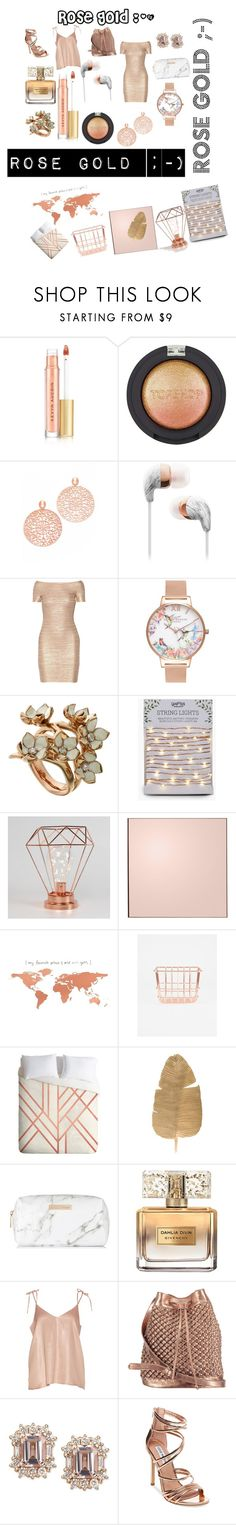 """Rose🌹gold"" by debbie-riley ❤ liked on Polyvore featuring Kevyn Aucoin, Topshop, Bronzallure, Hervé Léger, Olivia Burton, Shaun Leane, AYTM, DENY Designs, Spectrum and Givenchy"