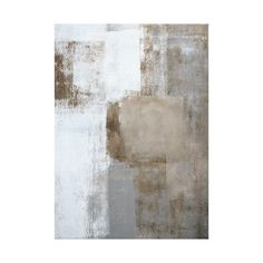 'Calm and Neutral' Grey and Brown Abstract Art