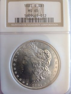 1881s MORGAN MS65