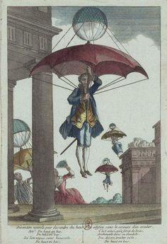 ' Invention nouvelle pour descendre du haut d'un édifice sans le secours d'un escalier' (1780s)