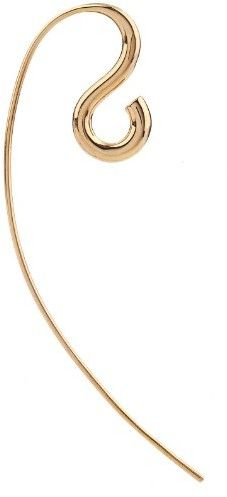 Charlotte Chesnais Hook gold-plated earring, elegant jewelry, Gold, Fashion, Designer, h-a-l-e.com