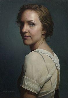 """Portrait of Jenny by Mina dela Cruz. Oil on Linen 16"""" x 12"""""""